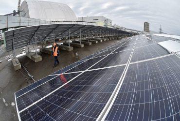 Первая солнечная электростанция в Чернобыльской зоне готова к работе