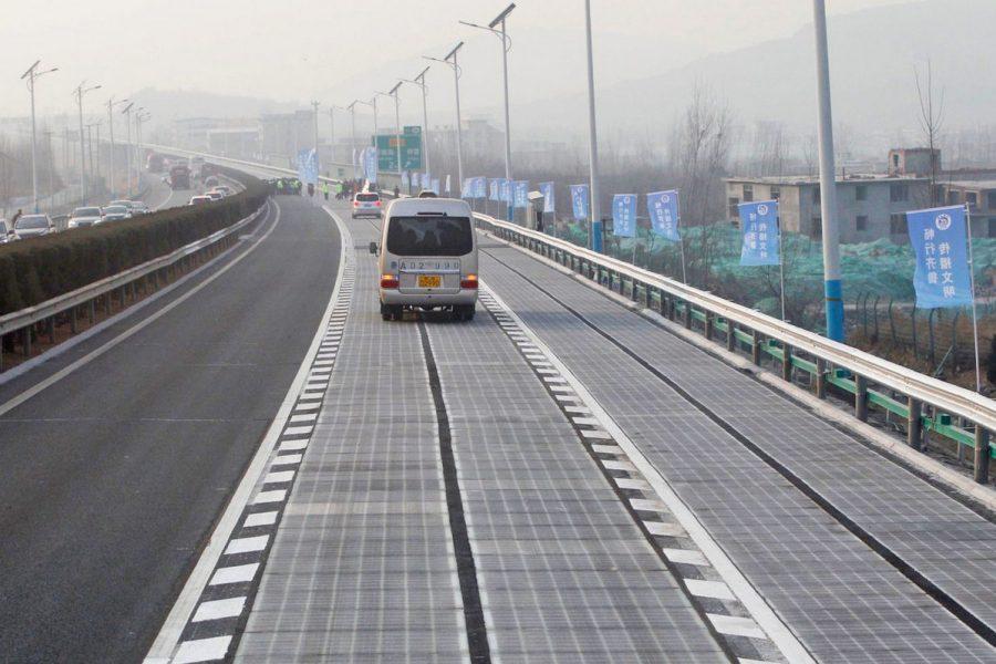 В Китае украли солнечные панели из недавно открытого «солнечного шоссе»
